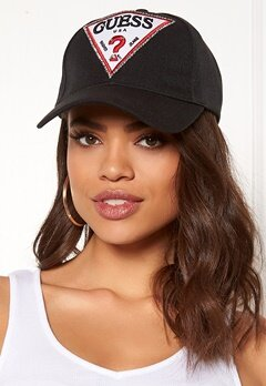 Guess Logo Baseball Cap Jet Black Bubbleroom.no