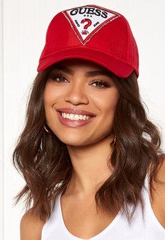 Guess Logo Baseball Cap Necessary Red Bubbleroom.no