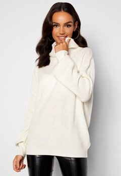 Guess Siliva Rollneck LS Sweater G012 Cream White bubbleroom.no