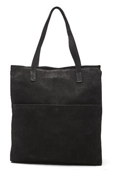 Pieces Gwen Suede Shopper Black Bubbleroom.no