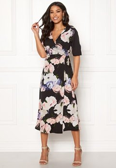 Happy Holly Adaline occasion dress Black / Patterned Bubbleroom.no