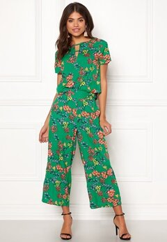 Happy Holly Addy wide pants Green / Patterned Bubbleroom.no