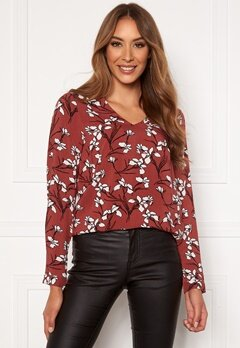 Happy Holly Adele blouse Cinnamon / Patterned Bubbleroom.no