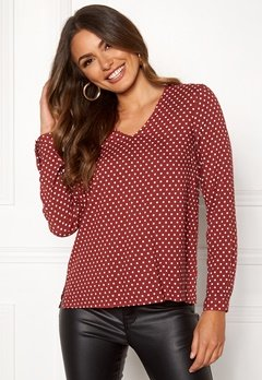 Happy Holly Adele blouse Dotted Bubbleroom.no