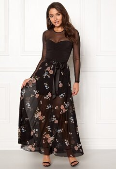 Happy Holly Alaina maxi skirt Black / Patterned Bubbleroom.no