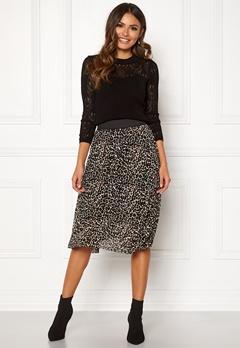 Happy Holly Alaina midi skirt Leopard Bubbleroom.no