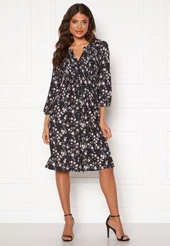 Happy Holly Alessi smock dress Black / Patterned Bubbleroom.no