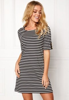 Happy Holly Alex dress Black / Offwhite Bubbleroom.no