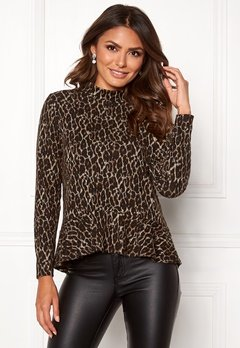 Happy Holly Alexandra top Leopard Bubbleroom.no