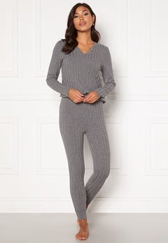 Happy Holly Alice lounge legging Grey melange Bubbleroom.no