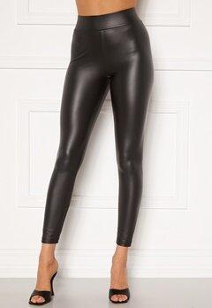 Happy Holly Alicia coated leggings Black Bubbleroom.no