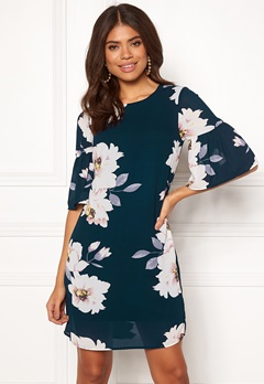 Happy Holly Alina dress Dark blue / Patterned Bubbleroom.no