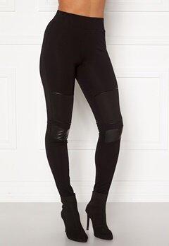 Happy Holly Allison biker leggings Black Bubbleroom.no