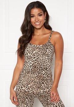 Happy Holly Ally singlet built in bra Leopard Bubbleroom.no