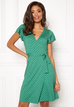 Happy Holly Amanda wrap dress Green / Dotted Bubbleroom.no