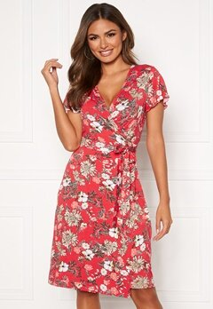 Happy Holly Amanda wrap dress Red / Patterned Bubbleroom.no
