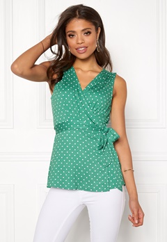 Happy Holly Amelie top Green / Dotted Bubbleroom.no