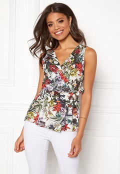 Happy Holly Amelie top White / Patterned Bubbleroom.no