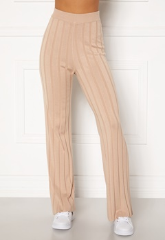 Happy Holly Anabelle Knitted pants Beige Bubbleroom.no