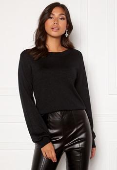 Happy Holly Angelica lurex sweater Black Bubbleroom.no