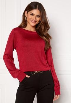 Happy Holly Angelica lurex sweater Dark red Bubbleroom.no
