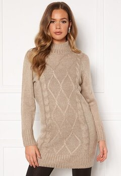 Happy Holly Arabella sweater dress Light beige Bubbleroom.no