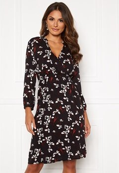 Happy Holly Astrid dress Black / Patterned Bubbleroom.no