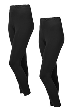 Happy Holly Beata Leggings Black / Black Bubbleroom.no