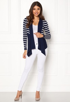 Happy Holly Beatrice cardigan Navy / Striped Bubbleroom.no