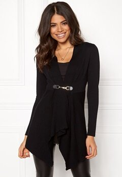 Happy Holly Beatrice long cardigan Black Bubbleroom.no