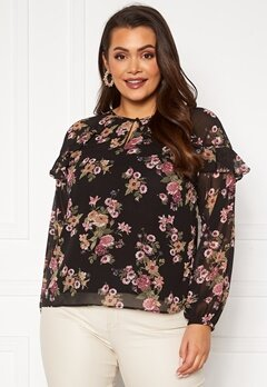 Happy Holly Becky blouse Black / Patterned Bubbleroom.no