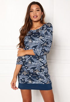 Happy Holly Belicia dress Blue / Patterned Bubbleroom.no