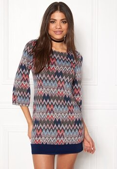 Happy Holly Belicia dress Patterned / Blue Bubbleroom.no