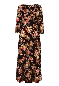 Happy Holly Betty maxi dress Black / Patterned Bubbleroom.no