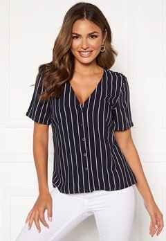 Happy Holly Blake blouse Dark blue / Striped Bubbleroom.no