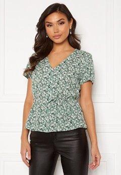 Happy Holly Blake blouse Khaki green / Patterned Bubbleroom.no