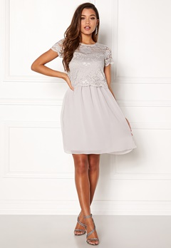 Happy Holly Blanche dress Light grey Bubbleroom.no