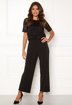 Happy Holly Blanche occasion jumpsuit  Black Bubbleroom.no