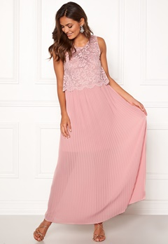 Happy Holly Blanche occasion maxi dress Dusty pink Bubbleroom.no