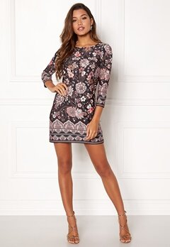 Happy Holly Blenda dress Black / Patterned Bubbleroom.no
