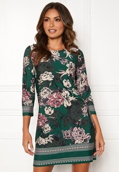 Happy Holly Blenda dress Dark green / Floral Bubbleroom.no