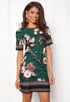 Happy Holly Blenda dress Dark green / Patterned Bubbleroom.no