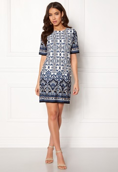 Happy Holly Blenda dress Offwhite / Patterned Bubbleroom.no