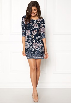 Happy Holly Blenda dress Dark blue / Patterned Bubbleroom.no