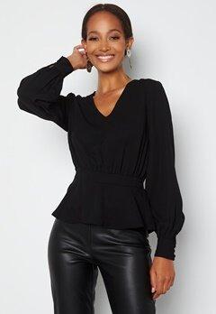 Happy Holly Bonnie blouse Black bubbleroom.no