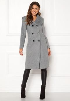 Happy Holly Brielle Hoody coat Grey melange Bubbleroom.no
