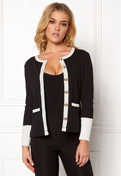 Happy Holly Calla cardigan Black / Offwhite Bubbleroom.no