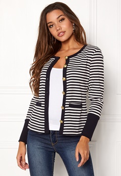 Happy Holly Calla cardigan Dark blue / Striped Bubbleroom.no
