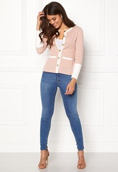 Happy Holly Calla cardigan Dusty pink / Offwhite Bubbleroom.no
