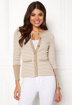 Happy Holly Calla cardigan Light mole / Striped Bubbleroom.no